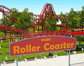 Roller Coaster Park 3D model