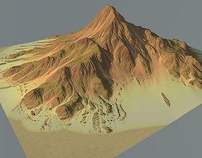 Lowpoly Mountain x1 3D asset