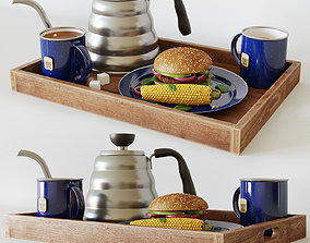 Breakfast decorative set 3D model