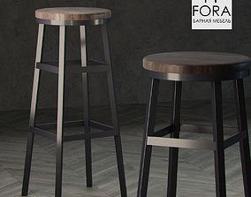 Fora furniture stool 3D model