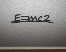 3D print model E Equals mc2 Wall Art