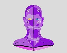 Man Head 3D model VR / AR ready