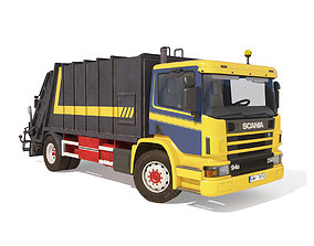 SCANIA P94 GARBAGE TRUCK 3D model
