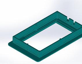 7 tft bezel Arduino mega 3D printable model