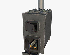 3D model Homemade metal sauna stove