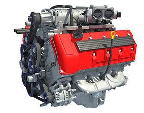 V8 Engine 3D model automobile