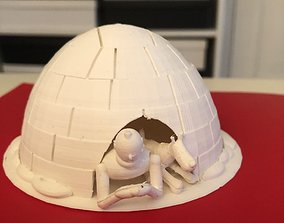 3D printable model Tintin and Snowy in an Igloo