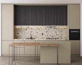 3D asset Kitchen set1