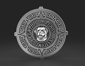 Central Texas Rottweilers badge 3D print model