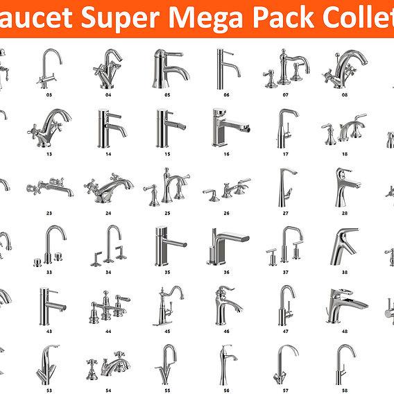 58 Faucet Super Mega Pack Collection