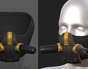 Gas mask respirator military combat 3D asset game-ready