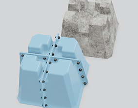 Mold for casting of deck blocks made of 3D printable model