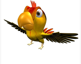 domestic 3D model Parrot Cartoon