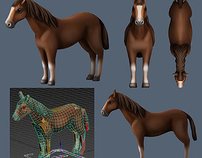 horse 3D model rigged