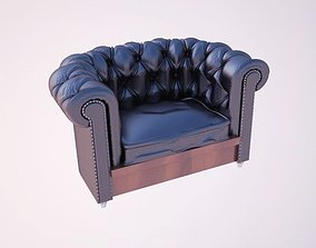 3D model chair Leather Sofa