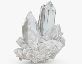 Barite Mineral 3D asset