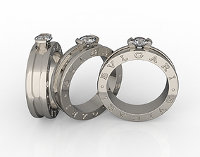 3D printable model ring zero solitaire