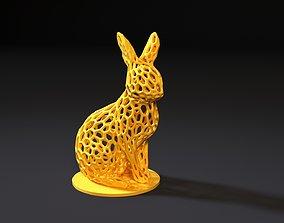 Rabbit voronoi 3D print model