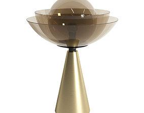 3D model Mason Editions LOTUS matte gold table lamp