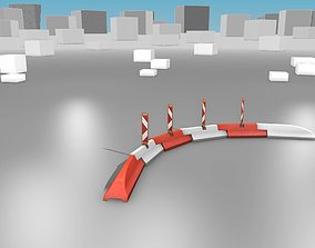 White and Red Road Traffic Barrier - Part 26 - 3D model