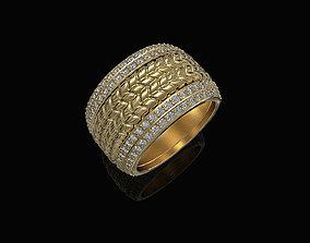 Ball of gems Ring 3D print model