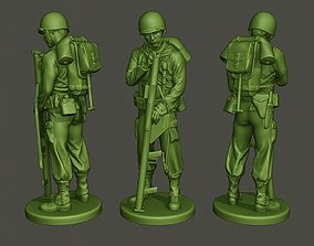 3D printable model American soldier ww2 looking Bazooka A4