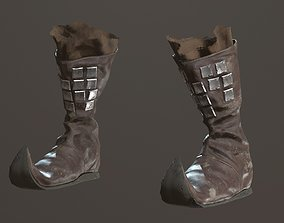 Medieval Leather Boots 3D model