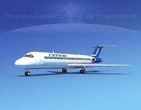 3D model Douglas DC-9-30 Finnair