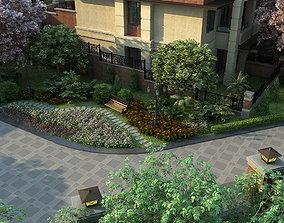 3D Residential community landscape 87