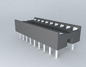 3D model 18 pin IC socket