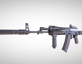 Weapon Attachments and AK12 3D model