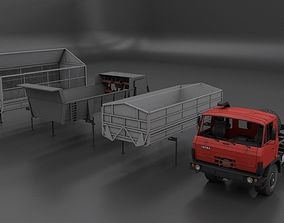 3D asset TATRA 815 Agro whith all trailers