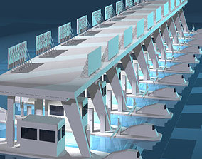 3D Highway pay toll building