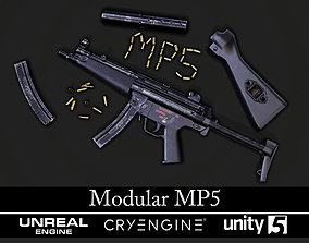 Modular MP5 - Textured - Game Ready 3D asset PBR