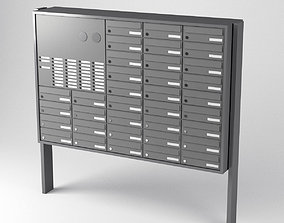 3D model Simple Mailbox System Array Mailboxes