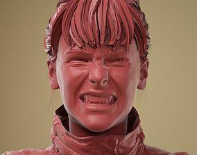 Facial Expression 0-10 Teeth Bare 3D