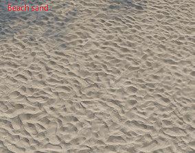 Ultra realistic Beach sand geometry dust 3D model