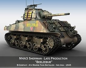 3D model M4A3 Sherman - Beelzebub