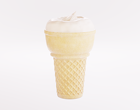 3D asset low-poly PBR Ice Cream Cone