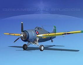 3D Grumman F4F-3 Wildcat V03