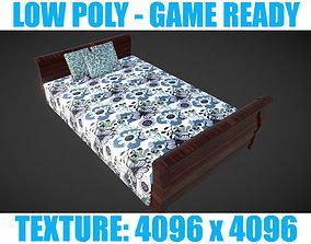 Low poly Bed 2 3D asset