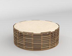 Maria Preciosa Coffee Table Etel Interiores 3D wooden