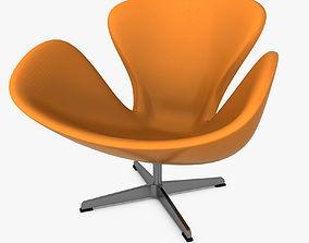 3D asset Swan Chair