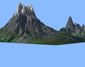 3D Volcano Mountains