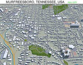 Murfreesboro Tennessee USA 30km 3D asset
