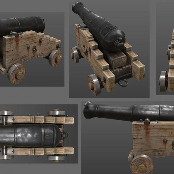 Cannon Weapon Model