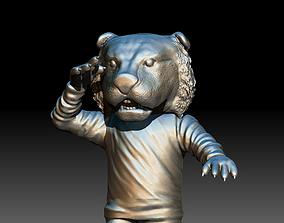 3D print model LSU Tiger