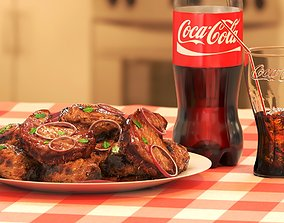 Coca-Cola and Food 3D