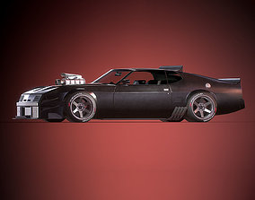 Mad Max Interceptor 3D model low-poly