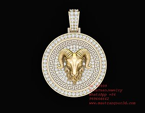 99999 Diamond Goat Pendant New Design 3D printable model